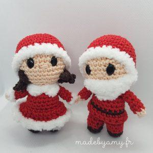Patron ou kit Monsieur et Madame Noël